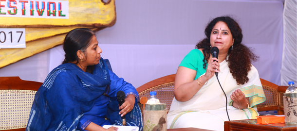 """Writers are very lonely we don't have a writing society in India""-Anita Nair"
